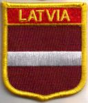 Latvia Embroidered Flag Patch, style 07.